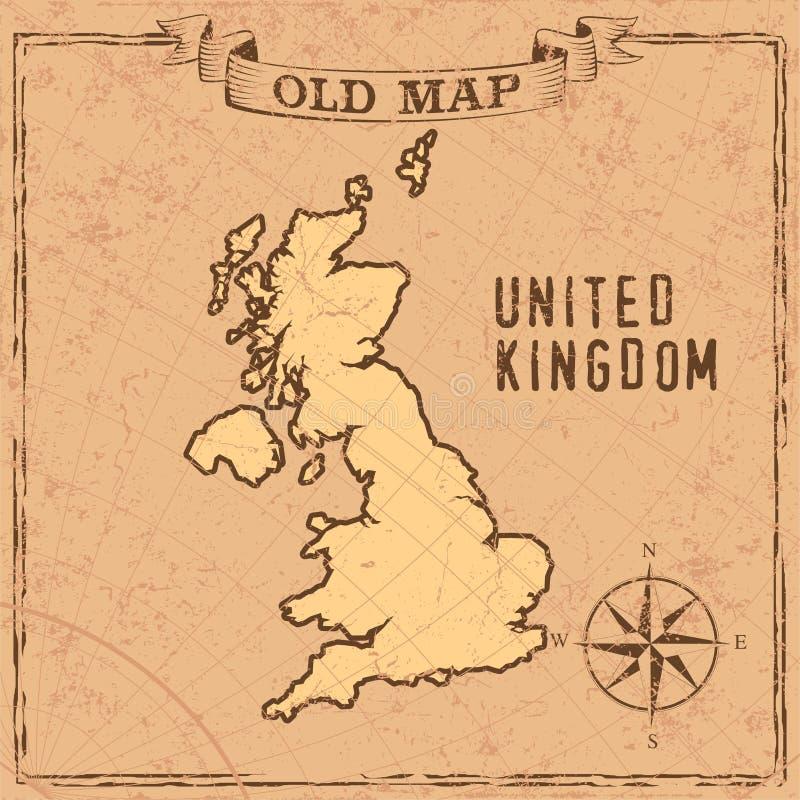 Mapa BRITÁNICO del viejo estilo libre illustration