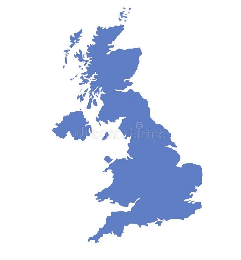 Mapa britânico ilustração stock