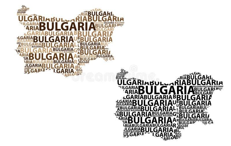 Mapa Bułgaria - wektorowa ilustracja ilustracji