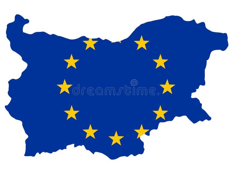 mapa bulgari ilustracja wektor