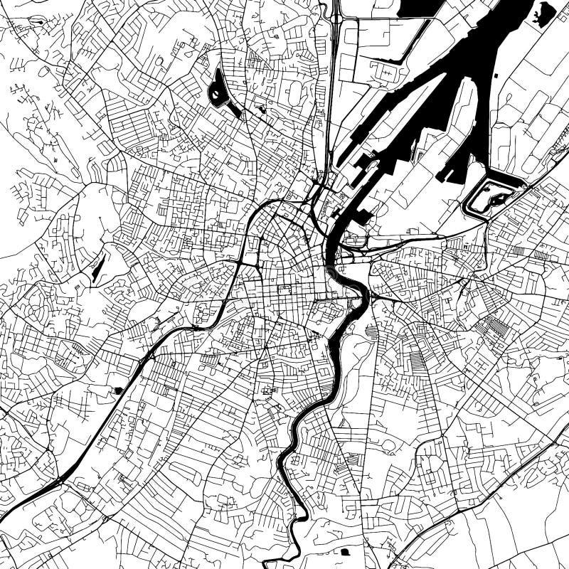 Mapa céntrico del vector de Belfast libre illustration