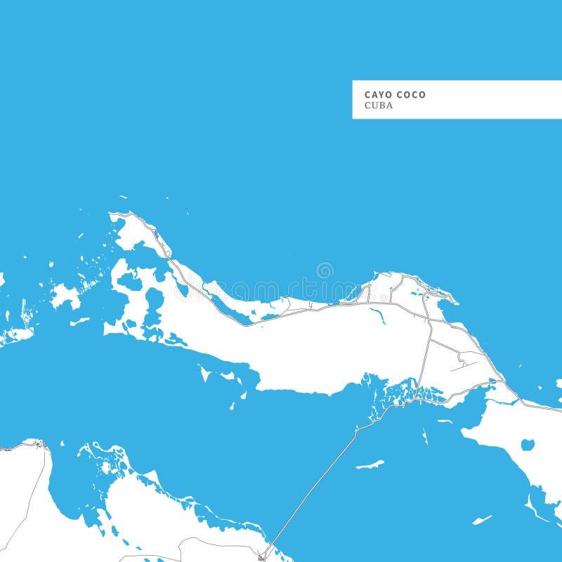 Mapa Cayo Coco wyspa ilustracji