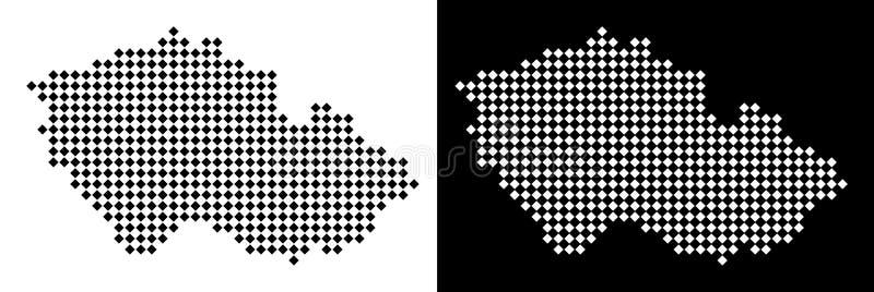 Mapa checo del pixel stock de ilustración