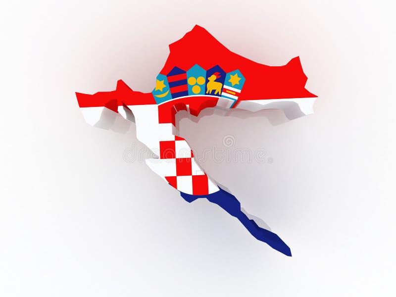 Mapa Chorwacja. ilustracji