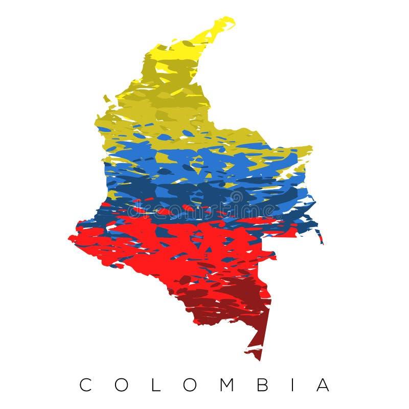 Mapa colombiano isolado ilustração royalty free