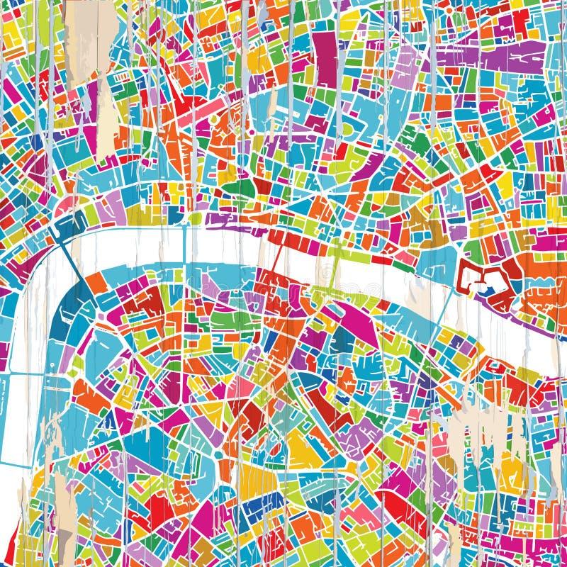 Mapa colorido de Londres stock de ilustración