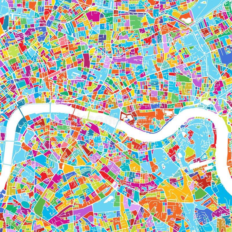 Mapa colorido del vector de Londres libre illustration