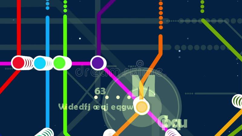 Mapa colorido do metro ilustração royalty free