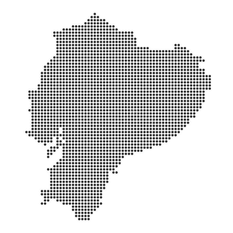 Mapa com ponto ilustração stock