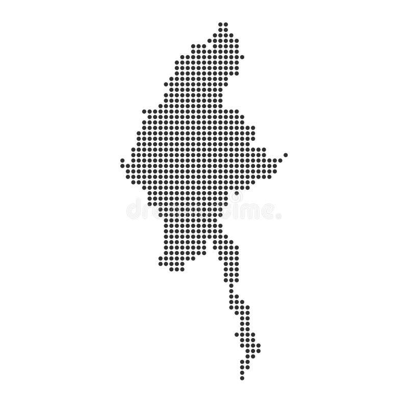 Mapa com ponto ilustração do vetor