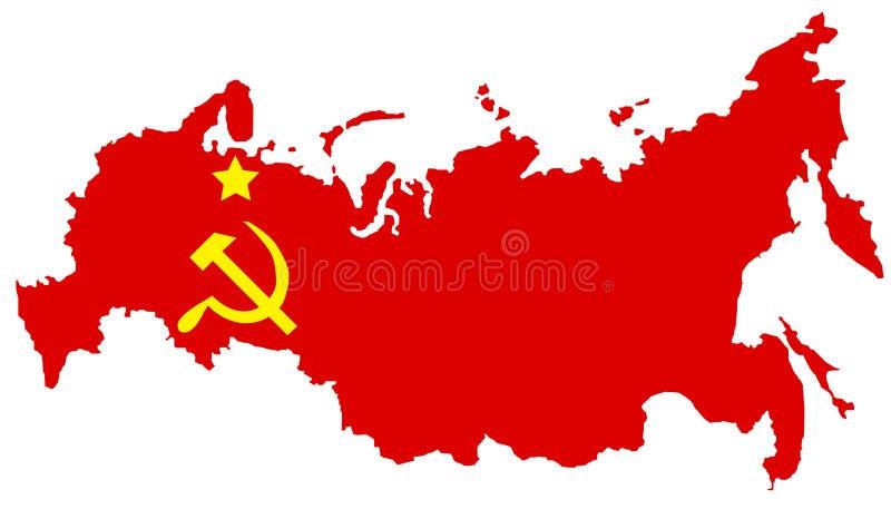 mapa comunist Zsrr royalty ilustracja