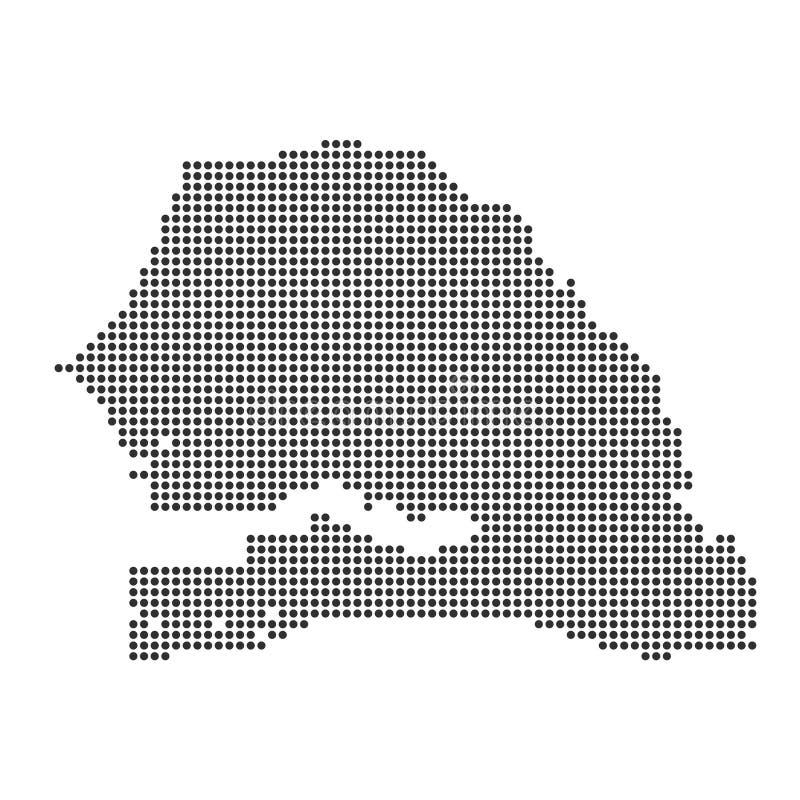 Mapa con el punto libre illustration
