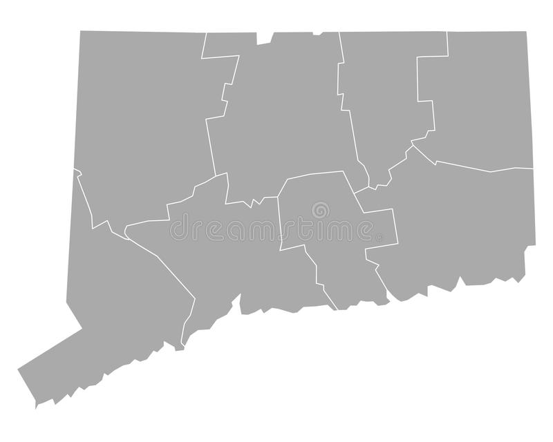 Mapa Connecticut royalty ilustracja