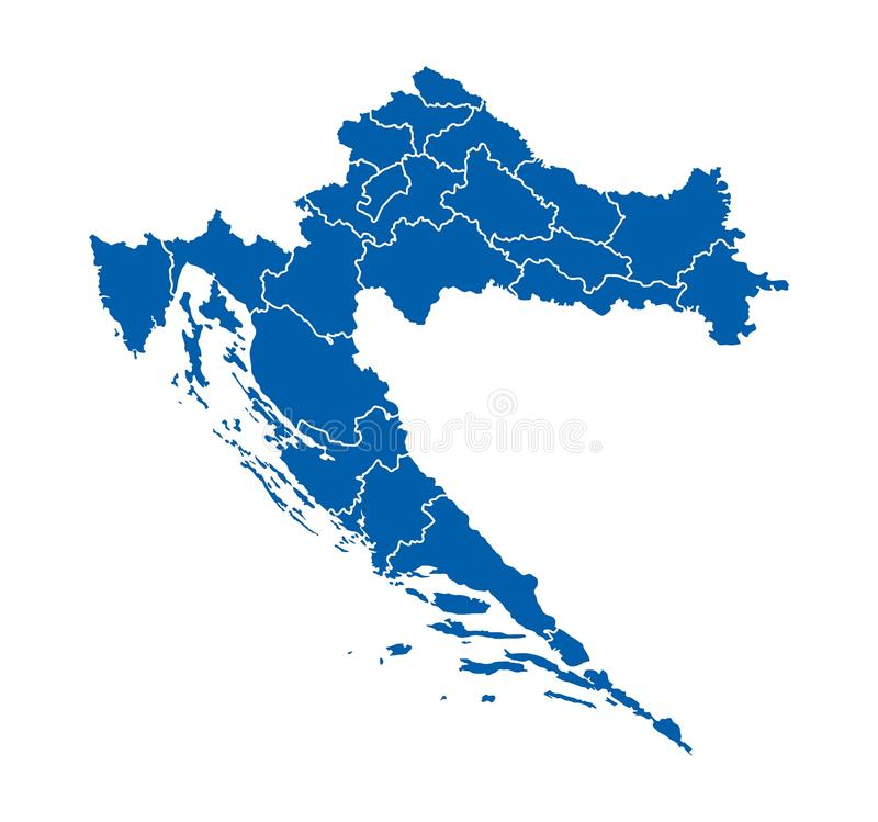 mapa croatia royalty ilustracja