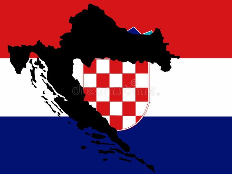 mapa croatia ilustracji