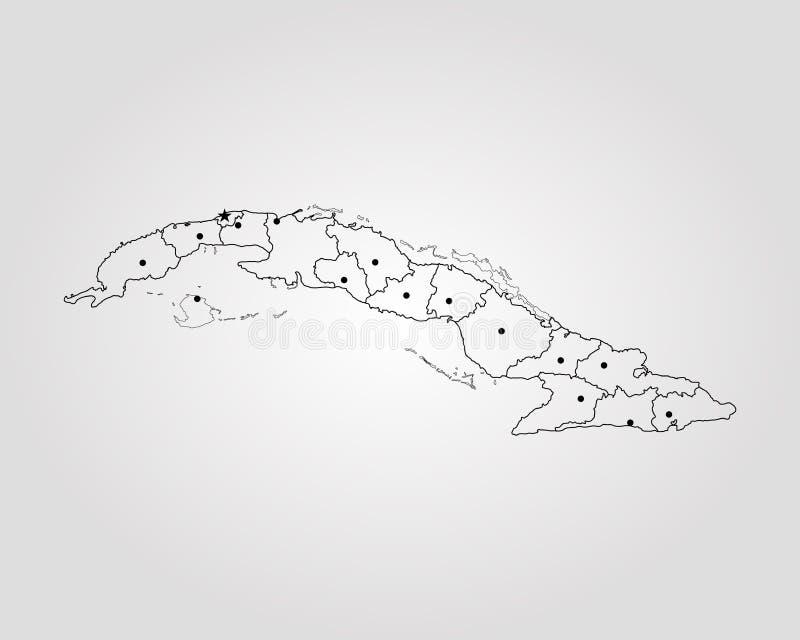 mapa cuba royalty ilustracja