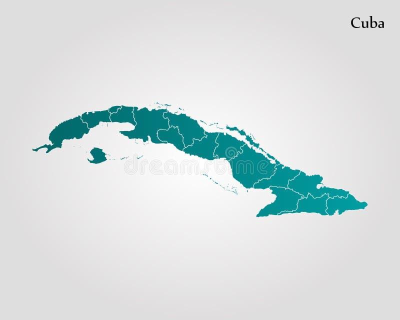 mapa cuba ilustracja wektor
