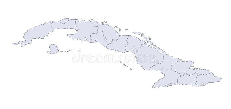 Mapa Cuba ilustração royalty free