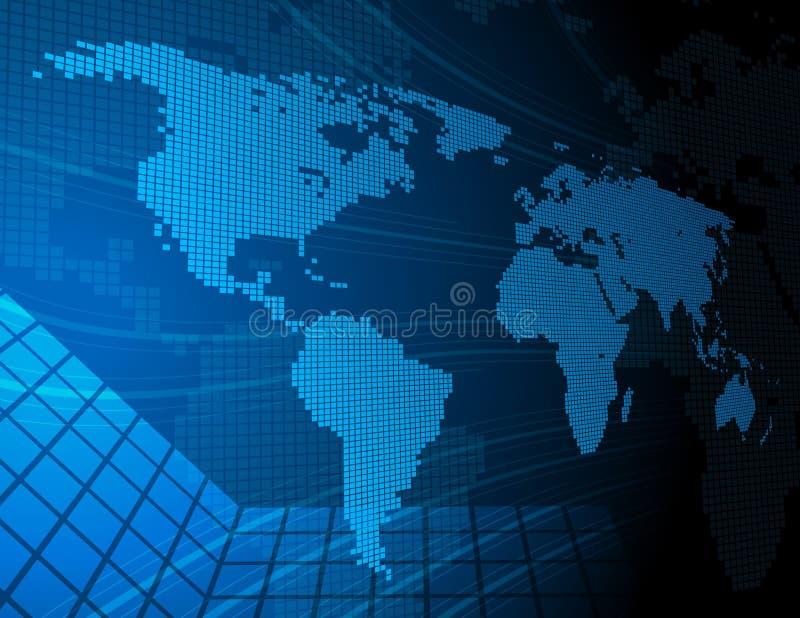 mapa cyfrowy świat royalty ilustracja