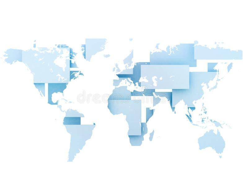 mapa cyfrowy ilustracyjny świat ilustracja wektor