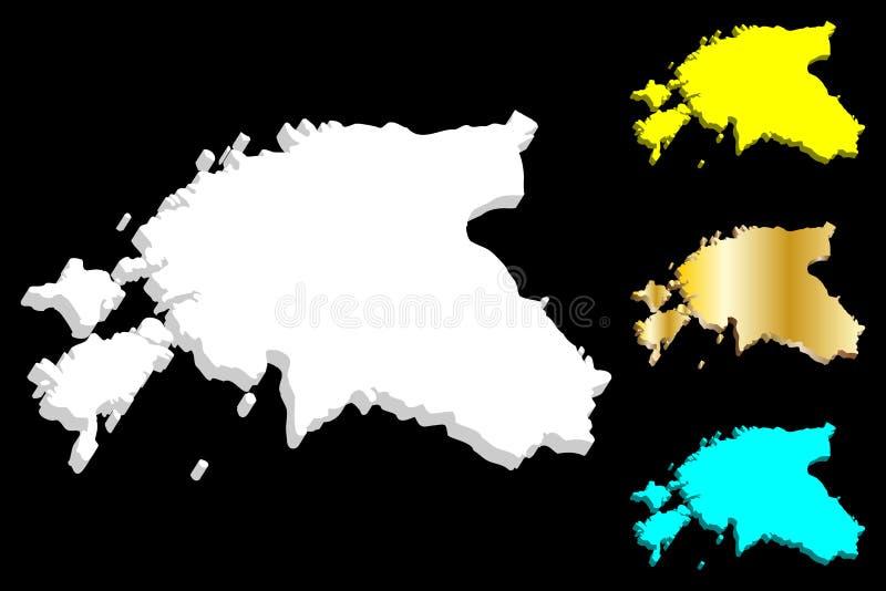 mapa 3D de Estonia libre illustration