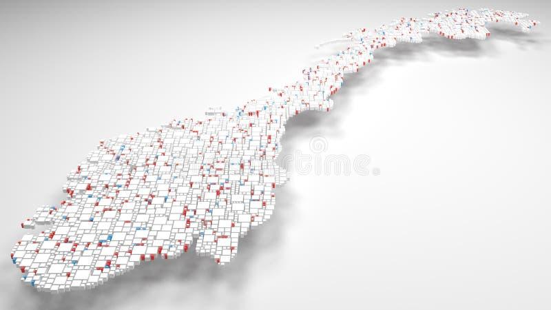 mapa 3D de Noruega - Europa libre illustration