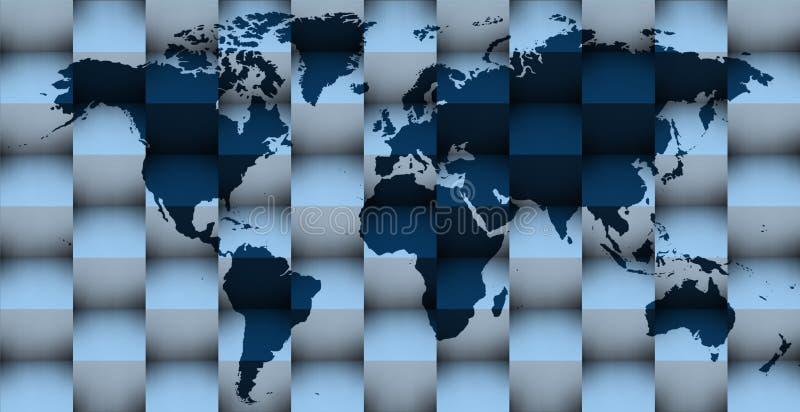 mapa 3d en azul libre illustration