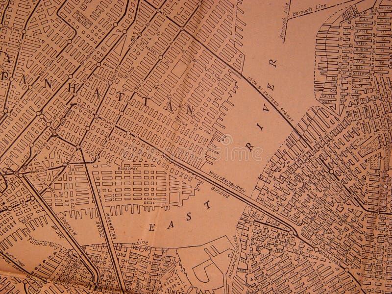 Mapa da área de 1930 NY imagem de stock royalty free