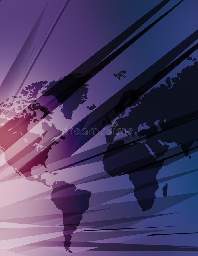Mapa da alta tecnologia do mundo ilustração do vetor