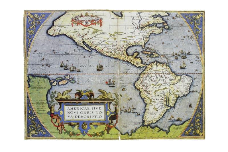 Mapa da América do Norte e do Sul, 1588 foto de stock
