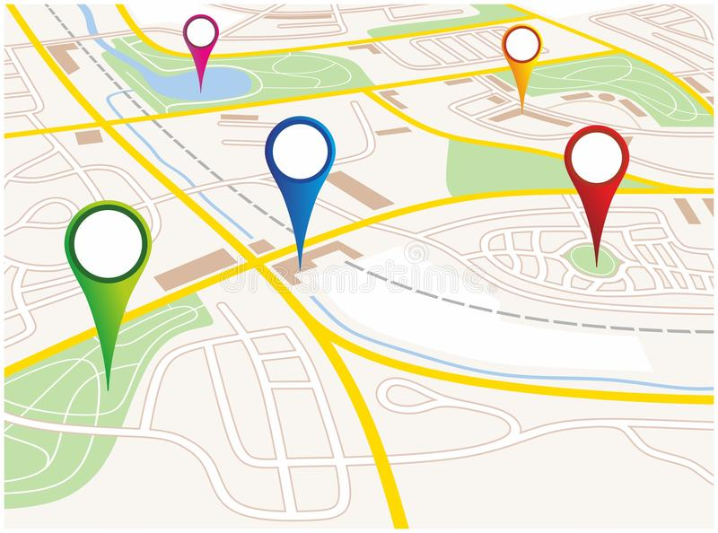 Mapa da cidade ilustração do vetor