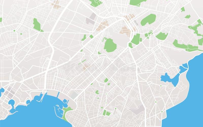 Mapa da cidade ilustração royalty free