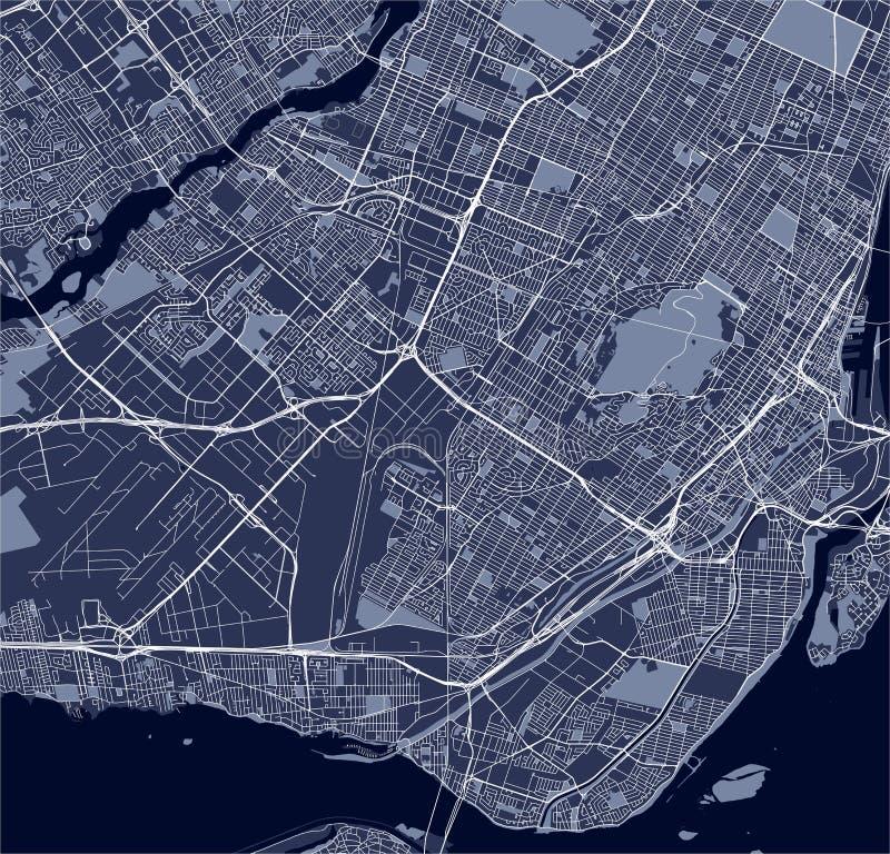 Mapa da cidade de Montreal, Canadá ilustração royalty free