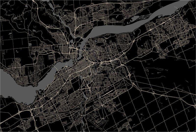 Mapa da cidade de Ottawa, Ontário, Canadá ilustração royalty free