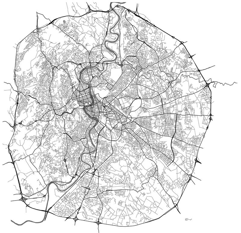 Mapa da cidade de Roma, Itália ilustração royalty free