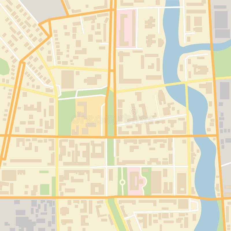 Mapa da cidade do vetor ilustração royalty free