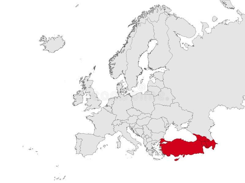 Mapa da Europa do sudeste ilustração do vetor
