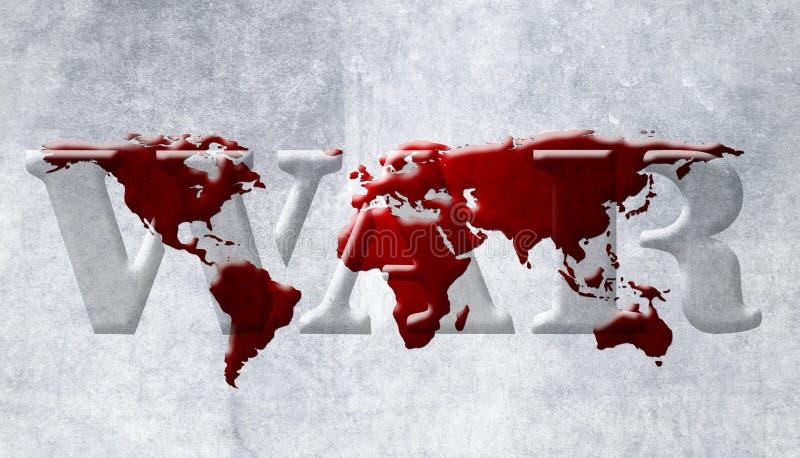Mapa da guerra de mundo ilustração do vetor