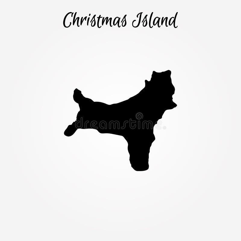Mapa da ilha christmas Ilustração do vetor Mapa de mundo ilustração royalty free