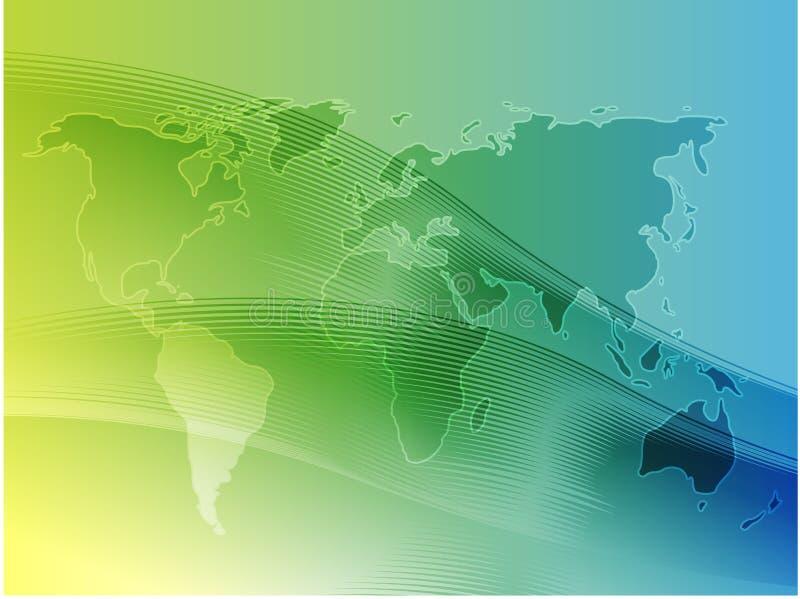 Mapa da ilustração do mundo ilustração stock