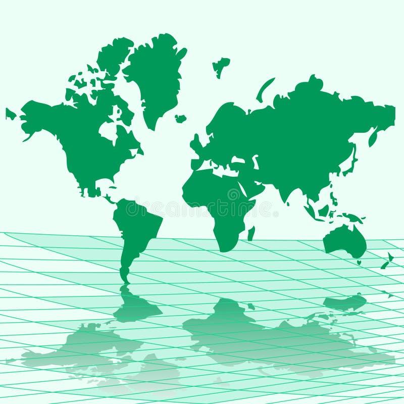 Mapa da ilustração do vetor do mundo ilustração royalty free