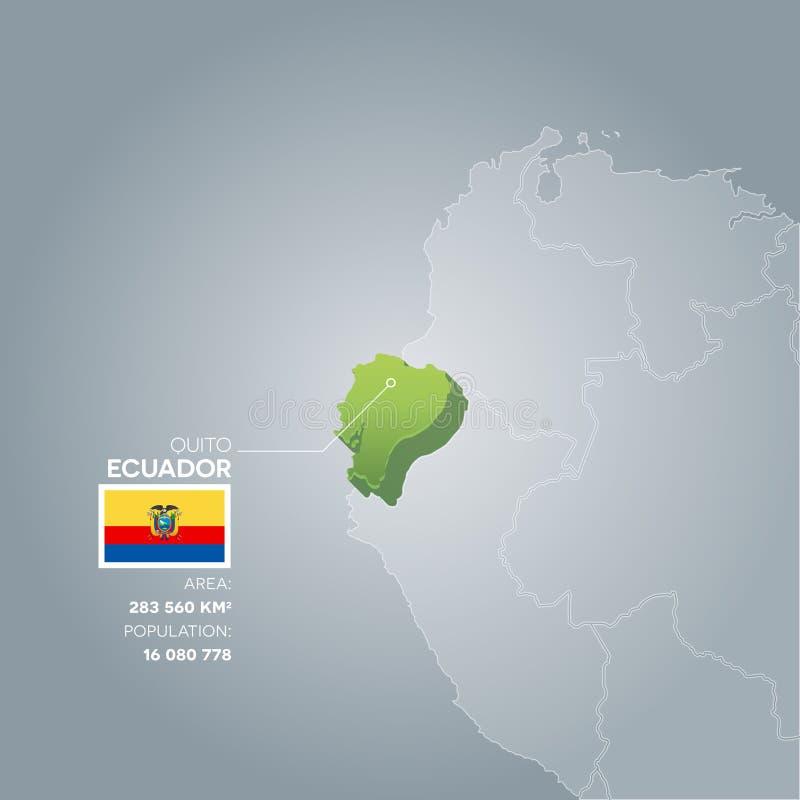 Mapa da informação de Equador ilustração royalty free