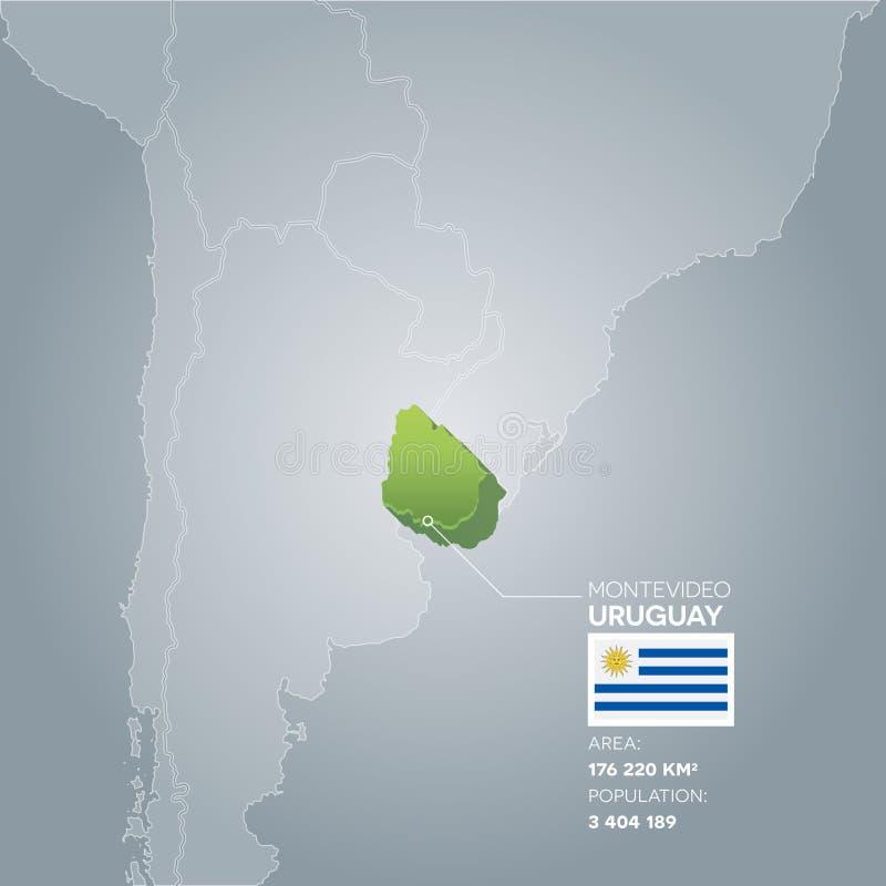 Mapa da informação de Uruguai ilustração do vetor