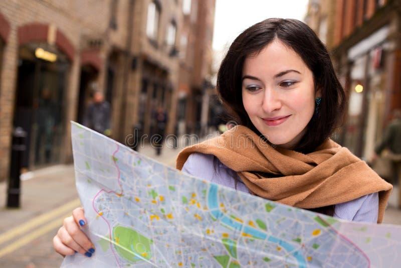 Mapa da leitura fotografia de stock royalty free