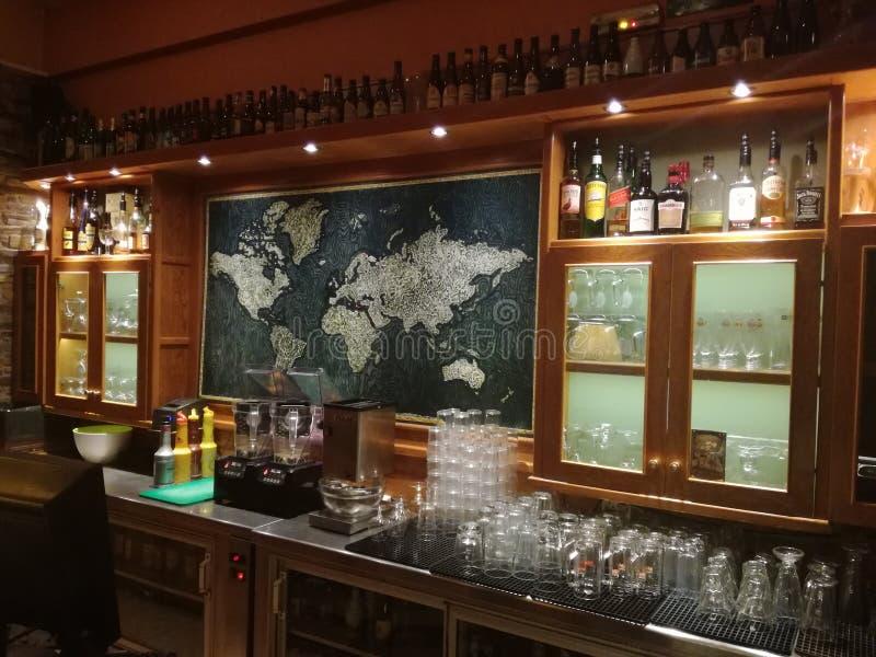 Mapa da minha viagem verdadeira do amor do mundo fotos de stock royalty free