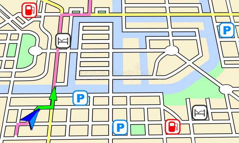 Mapa da navegação ilustração royalty free