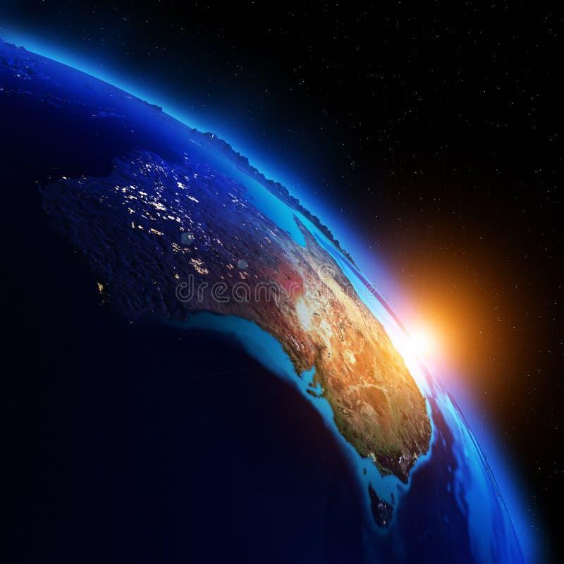 Mapa da noite do planeta ilustração do vetor