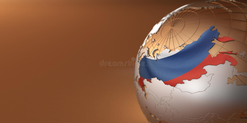 Mapa da Rússia na terra ilustração royalty free