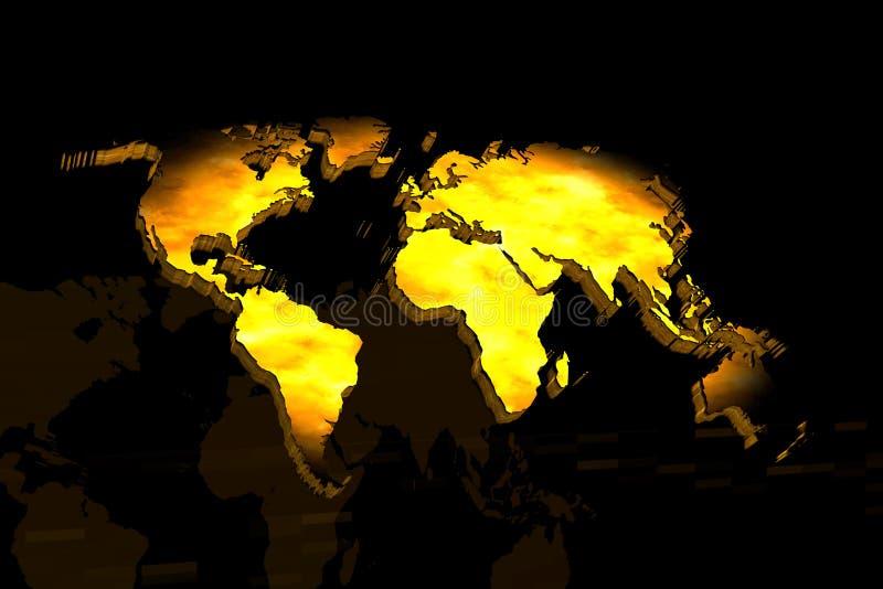 Mapa da terra ilustração do vetor