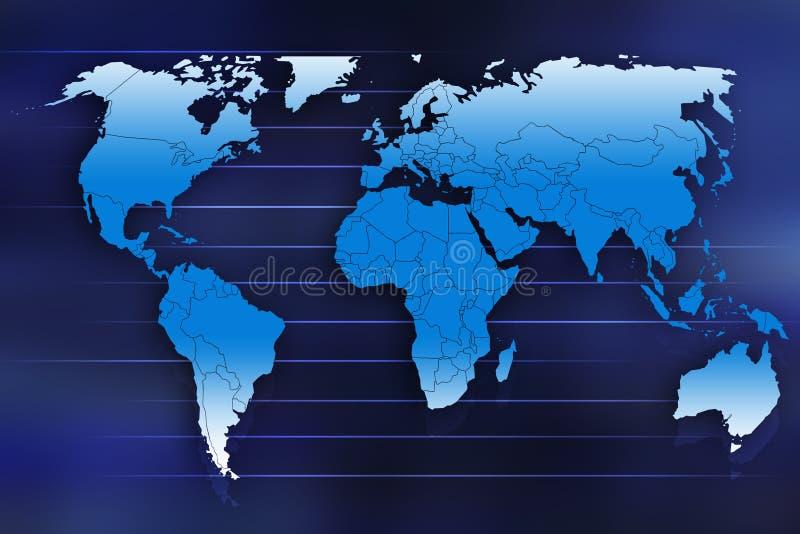 Mapa da terra ilustração stock